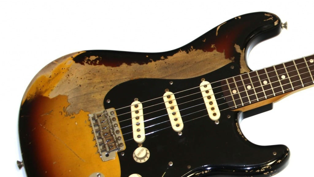 Fender relic Stratocaster 3-Tone sunburst