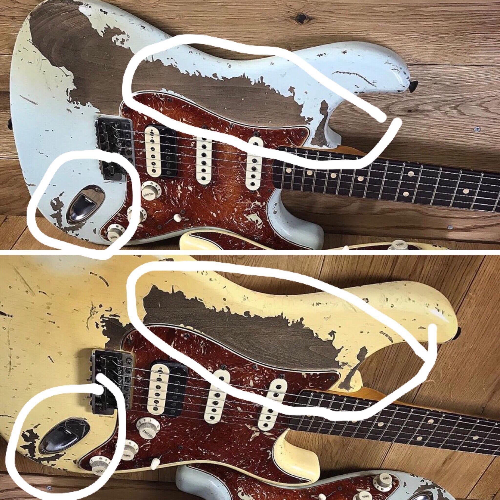Comparación de Poopot sobre el relic en Fender Stratocaster