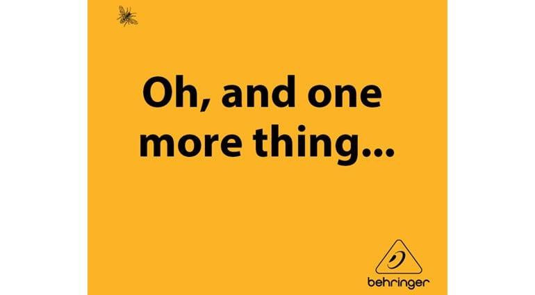 Behringer WASP tease