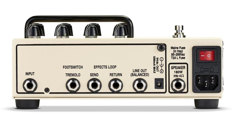 Panel trasero del amplificador en pedal Victory V4 Duchess