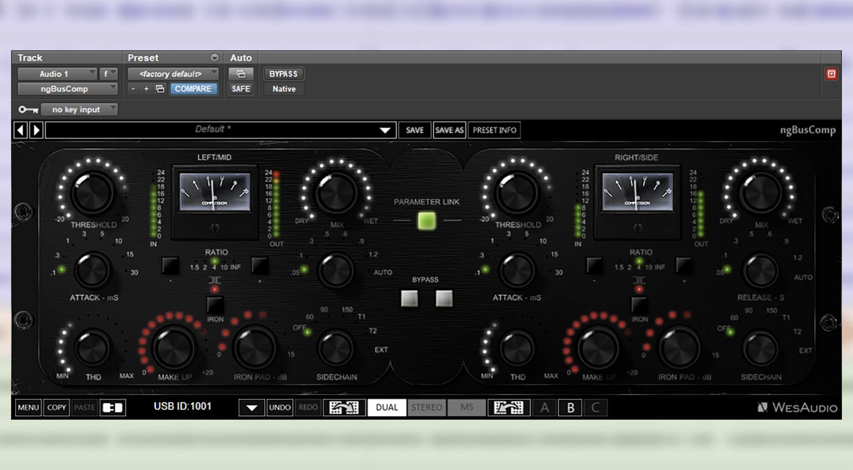 WesAudio ngBusComp plug-in