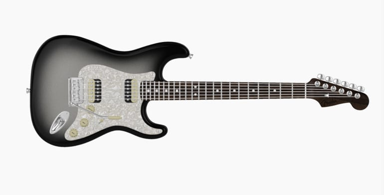 Fender Mod Shop Silverburst HH Stratocaster con mástil de palisandro