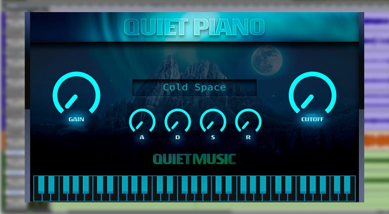 quiet music quiet piano virtual instrument GUI