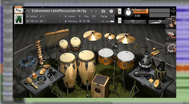 Toontrack Latin Cuban Percussion EZX sample pack GUI
