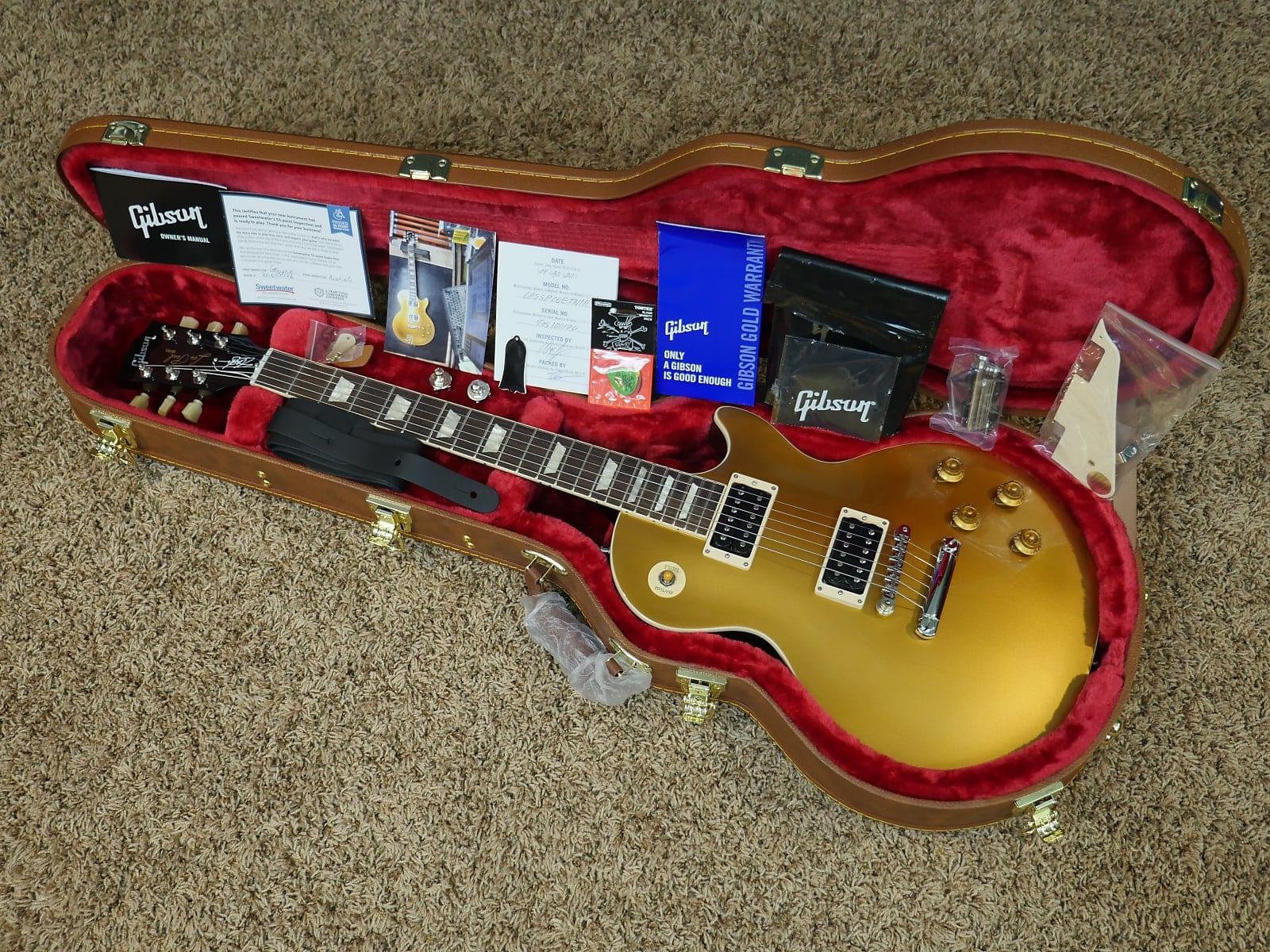 """El """"prototipo"""" único del modelo Gibson Slash signature Gold Top"""
