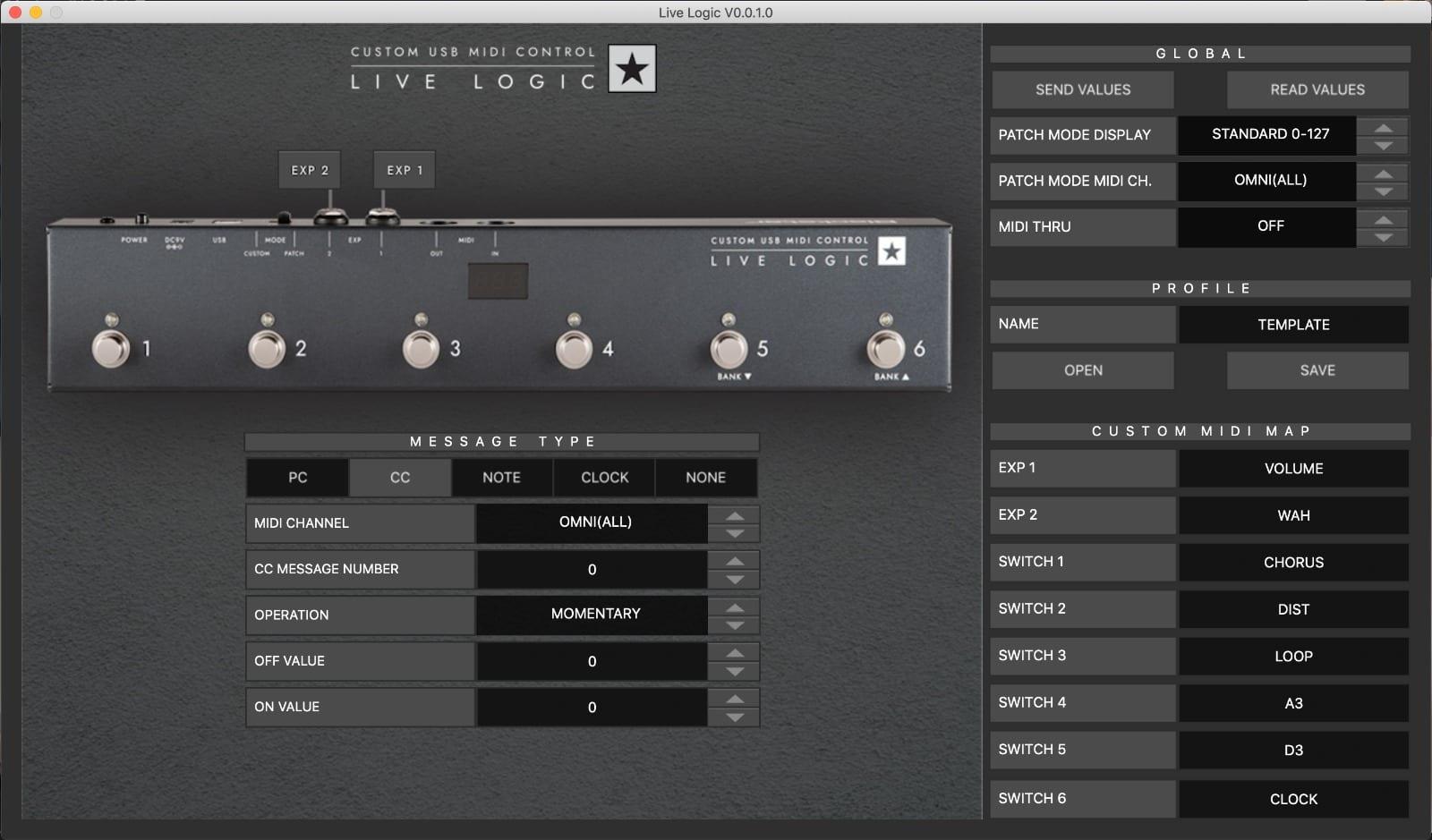 Aplicación Blackstar Live Logic