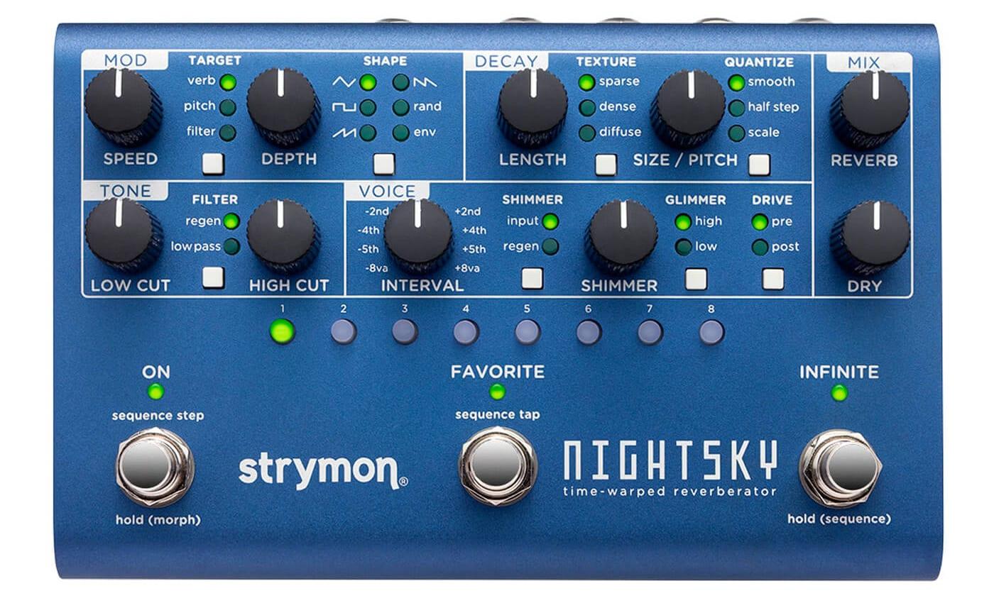 Strymon NightSky, una reverberación con control inspirado en la síntesis analógica