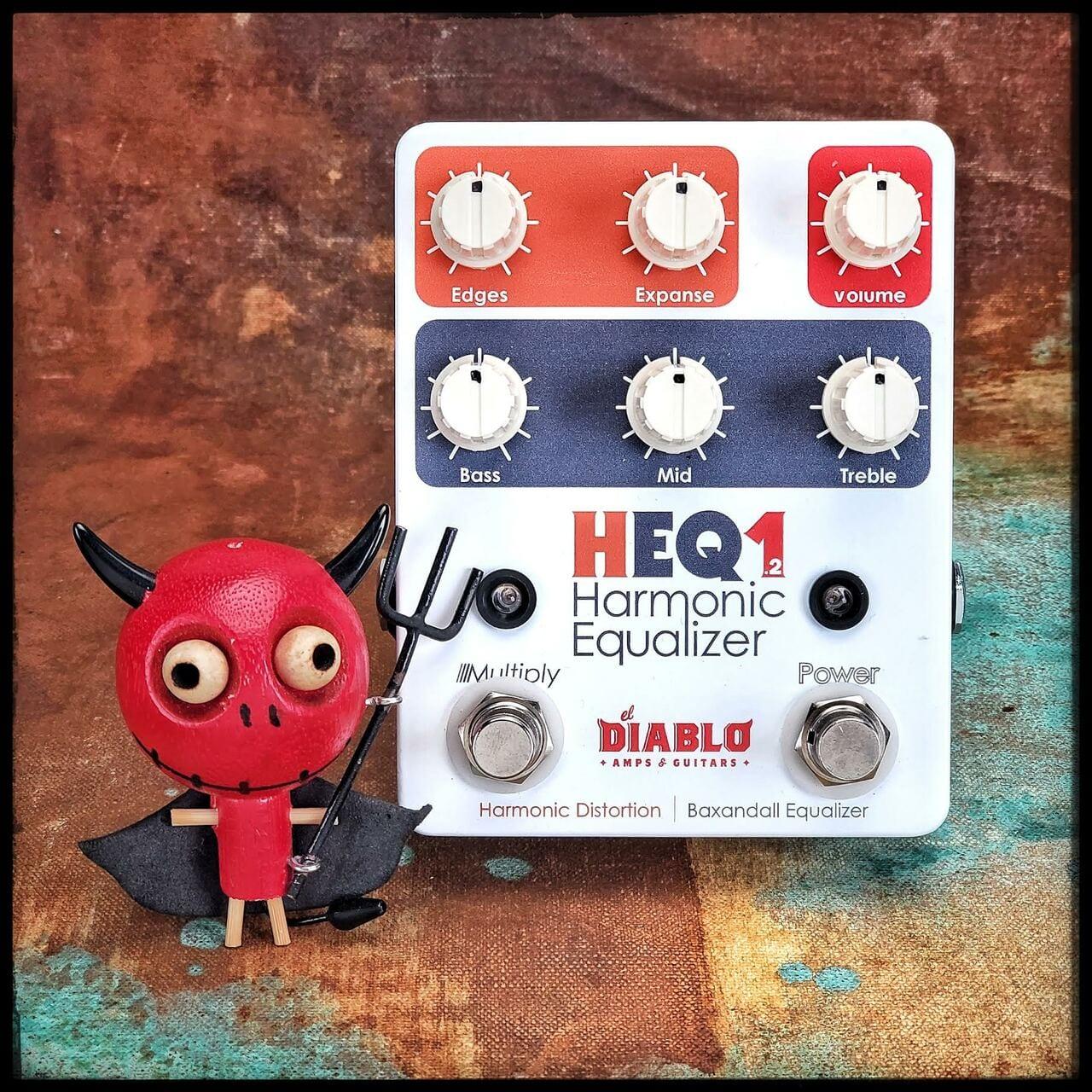 Nuevo fuzz Harmonic Equalizer HEQ1.2 de El Diablo Amps & Guitars