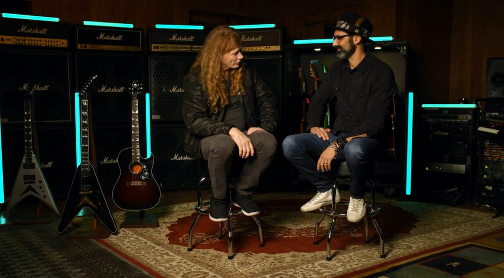 Cesar Gueikian de Gibson y Dave Mustaine