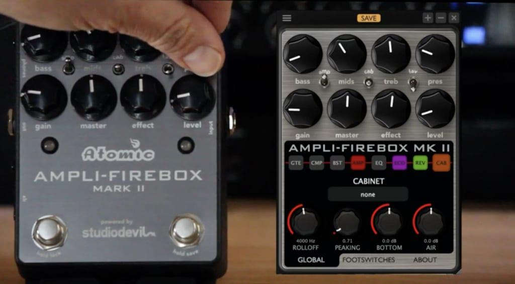 Atomic Amps Ampli-Firebox Mark II funciona con la aplicación