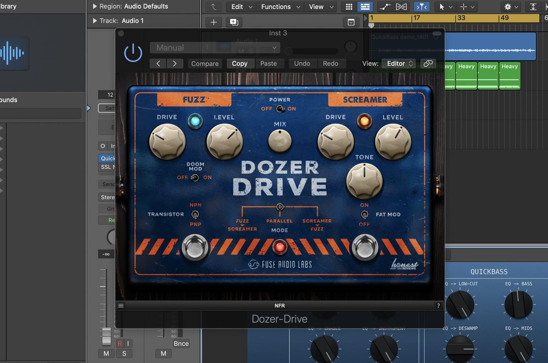 Fuse Audio Labs Dozer-Drive en Logic Pro X
