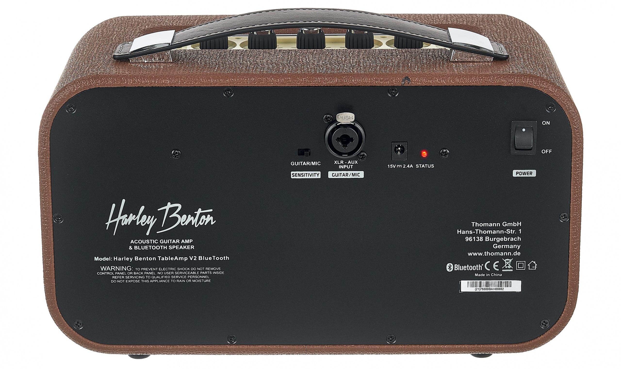 Parte trasera del amplificador
