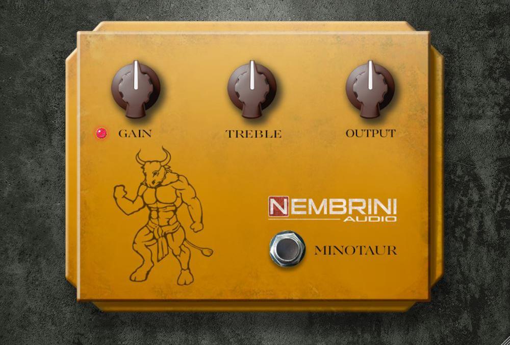 El Minotaur Transparent Overdrive de Nembrini Audio está basado en el Klon Centaur