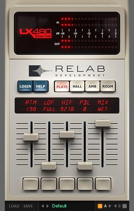 Relab LX480 Essentials GUI