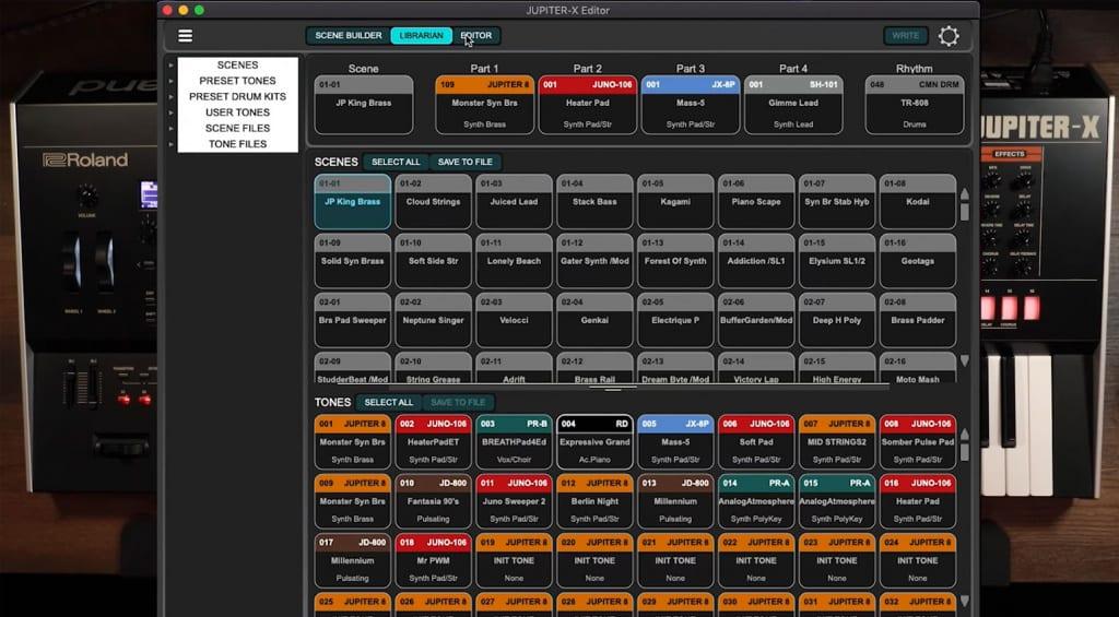 JUPITER-X Editor - scene builder