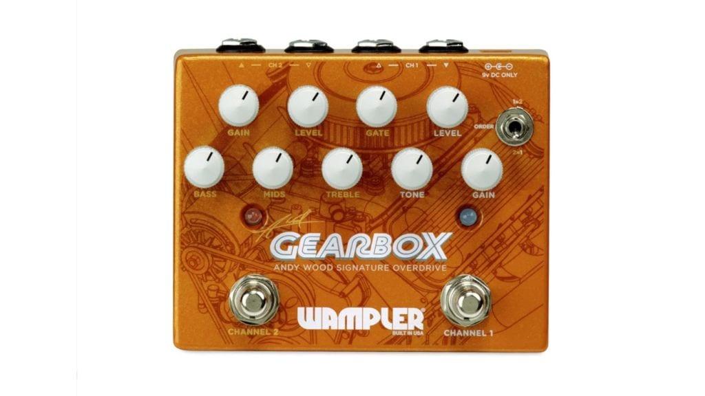 Wampler Andy Wood Gearbox Signature Overdrive con dos entradas y salidas