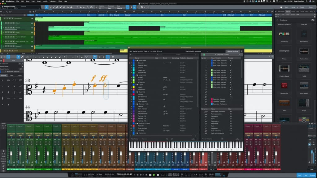 PreSonus Studio One 5.3 Dyamics Markings and Sound Variations 2