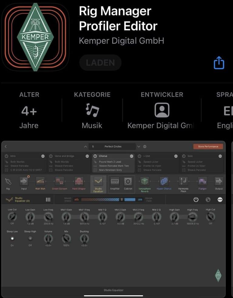 Kemper Rig Manager Profiler Editor Apple App Store