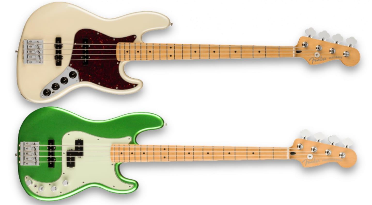 Jazz Bass y Precision Bass de la serie Player Plus