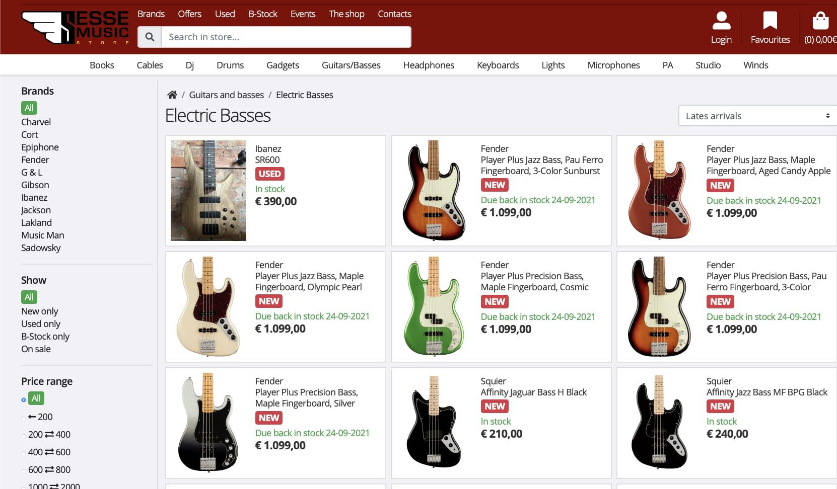 Filtración - También se han visto nuevos bajos Fender Player Plus Series