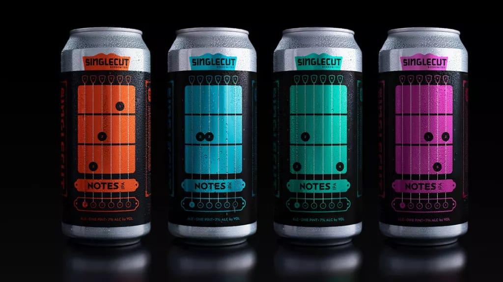 SingleCut Beersmiths Notes IPA ¡Acordes de Do, Mi menor, Sol y Re en tus cervezas!