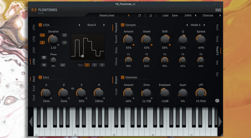 ToneBooster Flowtones Modulation/FX page