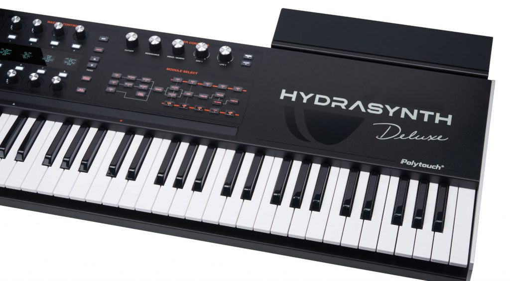 Hydrasynth Deluxe with shelf