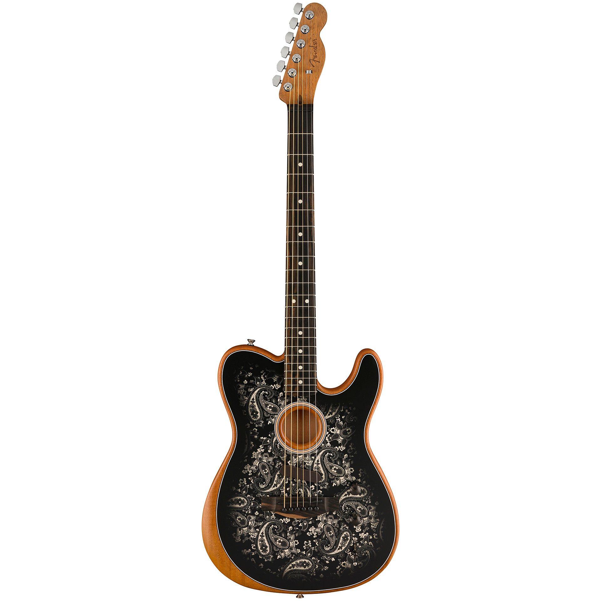 Fender Acoustasonic Tele Black Paisley ltd. Edition