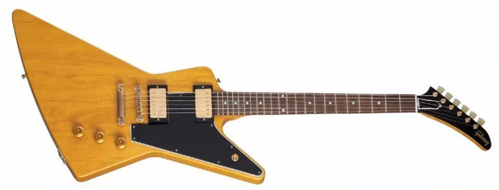 Gibson 1958 Korina Explorer con golpeador negro
