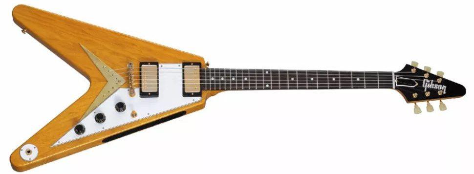 Gibson 1958 Korina Flying V con golpeador blanco