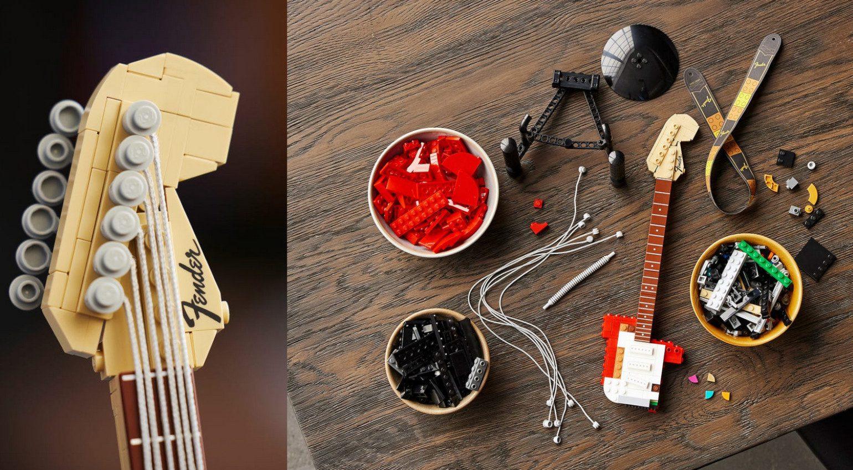Pala de la Fender Stratocaster de LEGO