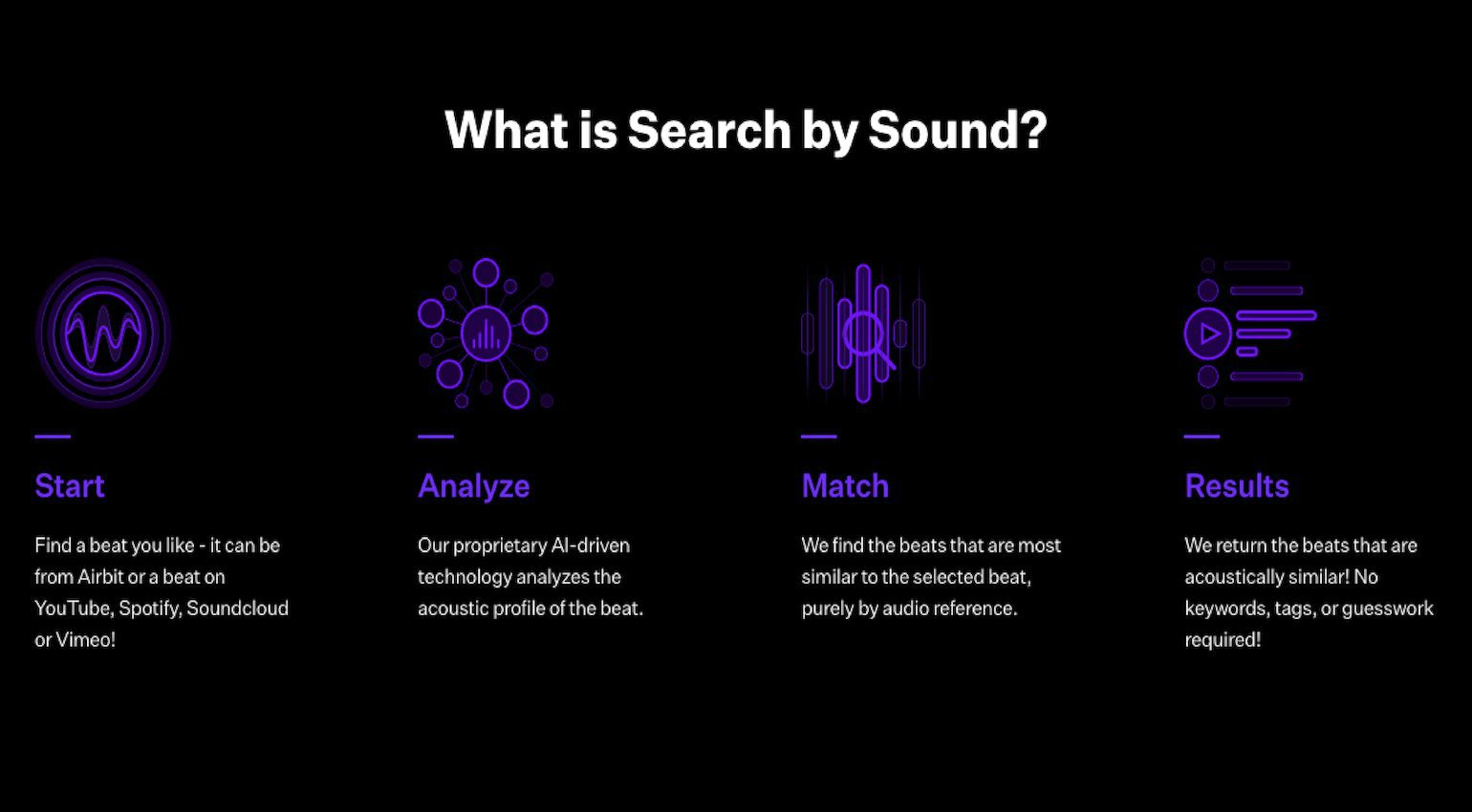 Airbit Search by Sound